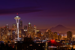 Seattle Dawn (rkazda) Tags: seattle longexposure mor