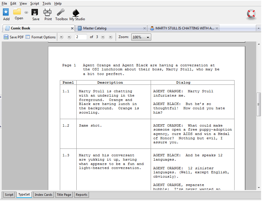 script writing templates