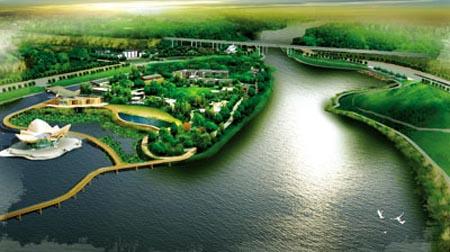 浐灞国家级湿地公园规划效果图