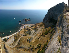2008 08 28 - 6612-6618 - Sudak - View from Soldaia (thisisbossi) Tags: ukraine crimea blacksea karadeniz stitched seas fortresses coastlines krim krym   sudak waterfronts     avtonomnarespublikakrym chornemore sudaq autonomousrepublicofcrimea   qrmmuhtarcumhuriyeti  avtonomnayarespublikakrym soldaia  sudakcitymunicipality   sudaqeeruras qaradeiz