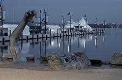 The Awakening (It's my whole damn raison d'etre) Tags: bridge blue sculpture water dawn harbor sand memorial awakening maryland national potomac wilson desaturated woodrow yahoo:yourpictures=sculptures