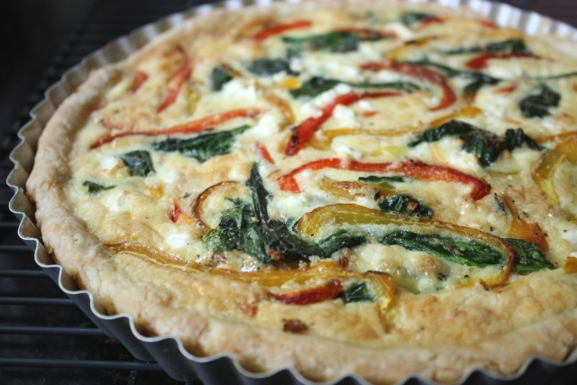 Quiche, from the oven