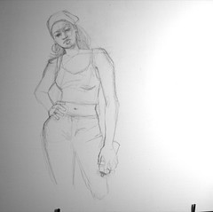 Girl in Room Tres [ Stage 4 Masonite Sketch ]