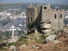 Happy Easter (Light Painted Cornwall) Tags: castle pool tristan easter rocks iron cornwall cross fort age granite brea redruth barratt camborne carn tregajorran