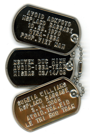 Re-writing my story with personalized dog tags to identify who I've become