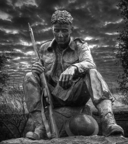 A Soldier Of World War II B&W by Mr Mo-Fo.