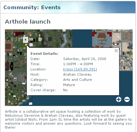 Arthole launch! (event listing)