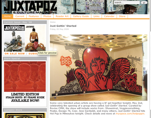 juxtapoz press for may 2nd show