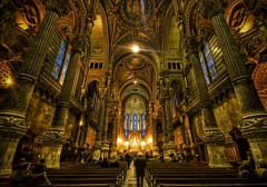 The Grandeur of Notre Dame (Stuck in Customs) Tags: pictures voyage trip travel panorama paris france love church lines architecture french photography gold nikon bravo shoot catholic photographer shot angle lyon god photos details faith religion rich d2x perspective chapel stainedglass images structure symmetry notredame holy edge huge pro wealthy portfolio capture spiritual notre dame religions eglise hdr prayers spirituel christianism themoulinrouge stuckincustoms treyratcliff curtissimmons