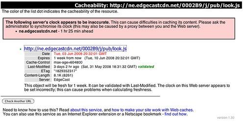 CDN Cacheability - EdgeCast