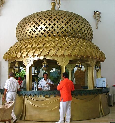 Gold bar at Villa Arabesque, Acapulco, Mexico
