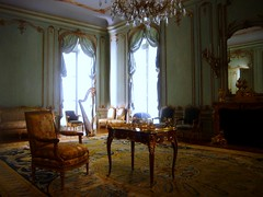 Room from the Palais Paar, Vienna (ggnyc) Tags: vienna nyc newyorkcity newyork museum austria chair desk manhattan interior harp met interiordesign 18thcentury rococo metropolitanmuseumofart austrian paneling stateroom marquetry periodroom eighteenthcentury parquetry isidorcanevale palaispaar countwenzeljosephjohannvonpaar johanngeorgleithner