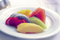 Even if you mess up at night... (Jadore Allure) Tags: fruit salad yummy healthy strawberry watermelon delicious diet kiwi allure jadore