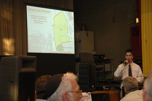 David Parish describing the proposed rezoning for South Midwood