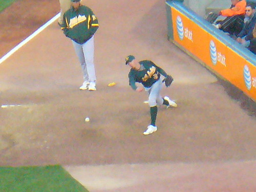 Brad Ziegler warms up.