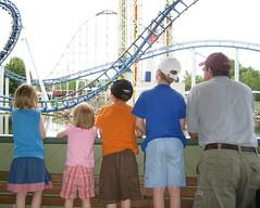 Valleyfair watching roller coaster