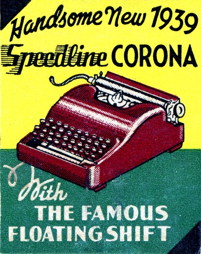 1939 Speedine advert