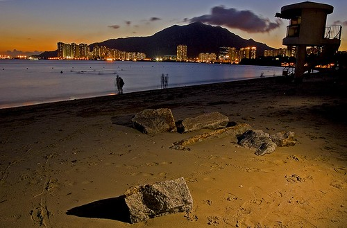 The beach at Gold Coast, Tuen Mun