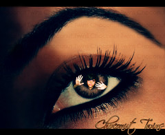 ~ P.R.I.S.O.N .. (chcou ws ~ Back!) Tags: eye girl digital canon eos twins women coconut expression chocolate creative prison blueribbonwinner choconut 400d