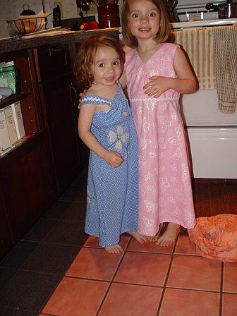 New dresses . . .
