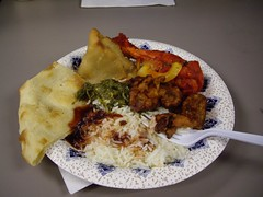 Yummy lunch of Indian food!