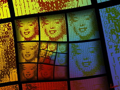 Pop Queen (Village9991) Tags: people art colors rainbow mosaic deception mosaics photomosaic mosaico pop illusion marylin monroe normajean mosaici village9991