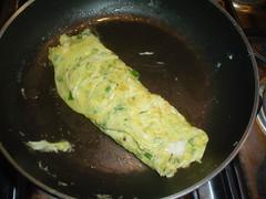 Omelette doblado