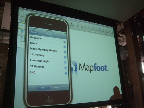 MapFoot on iPhone