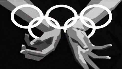 Olympic Rings Turn Into Handcuffs