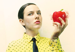 Tell (RossinaBossioB) Tags: red portrait selfportrait apple pepper apples temptation paprika artlibre rossinabossio rossinabossiob