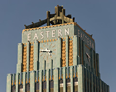 Eastern-Columbia Clock Tower (Viajante) Tags: california building clock architecture losangeles downtown afternoon broadway historic artdeco losangelescounty easterncolumbiabuilding historiccore nikond80