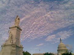 Peace Monument, Cirrocumulus, Capitol
