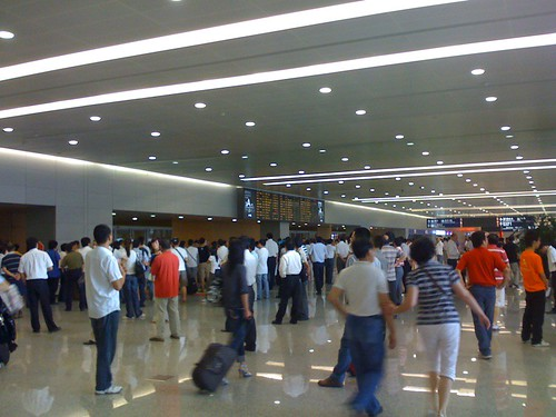 Picture of Arrivals at Shanghai Airport