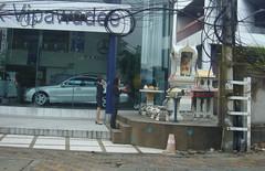 Oh Buddha, Won't You Buy Me a Mercedes Benz? (crystoforo) Tags: morning thailand mercedes bangkok sony prayer buddhism cybershot digitalcamera meditation cardealership sales incense sonycybershot spirithouse top36 megapixels top50 topfavorite topphotos