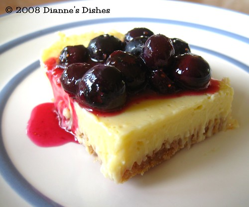 Lemon Custard Bars with Blueberry Sauce