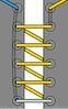 шнуровка по прямой линии