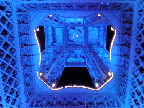 Eiffel Tower from underneath