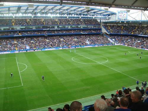 Stamford bridge antes de empezar un partido