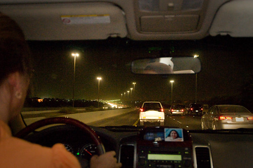 Light traffic on Faheel Expressway at Night
