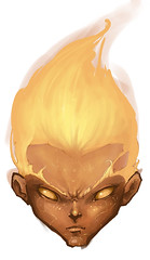 "Genasi ""Fire"" (jernvotten) Tags: boy signs fire kid marks flame element ild genasi"