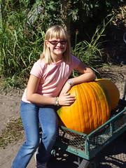 Mariel and her pumpkin