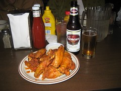 Wings and a Genee Beer. (10/09/2008)