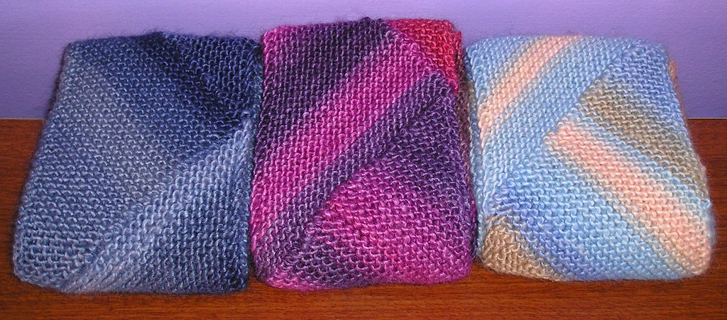 Knitting Pattern For Multi Directional Scarf : The Knitting Sanitarium: Brought to you by the number 3