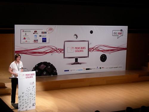 Núria Masdeu als Premis Blocs Catalunya