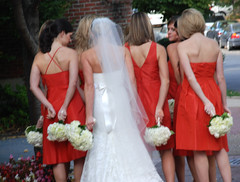 Ok Coach, Shotgun Play! (Pulicciano) Tags: wedding orange white flower halloween bride dc washington football coach team october play veil georgetown piture paparazzi shotgun maid bridemaids photoreporter colourartaward pulicciano