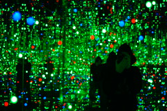 the gleaming lights of the souls #3 (einsteinsmonster) Tags: selfportrait art liverpool 50mm lights nikon room mirrors biennial 08 capitalofculture d40 50mmaff18d einsteinsmonster yayoikusma