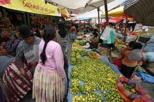 La Paz market...