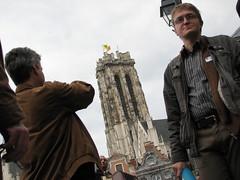 Mechelenmeetup2008 (mechelenblogt_jan) Tags: mechelen grotemarkt smilingdavinci sintromboutstoren eelcokruidenier petermeuris mechelenmeetup2008