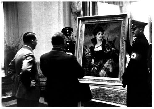 Hitler and Goering look at art