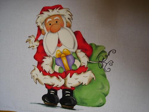 Papai Noel em tecido